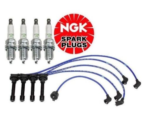 For Honda Accord 2.2L Set of 4 Spark Plugs /& Ignition Wire Set NGK OE-FIT