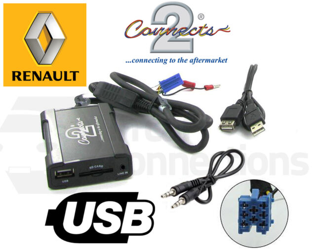 Renault Scenic USB adapter interface CTARNUSB003 car AUX SD input MP3 jack pre09