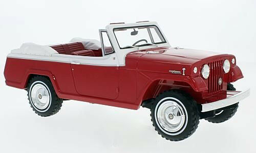 Jeep Jeepster Commando Congreenible 1970 red weiss   1 18 BOS     NEW