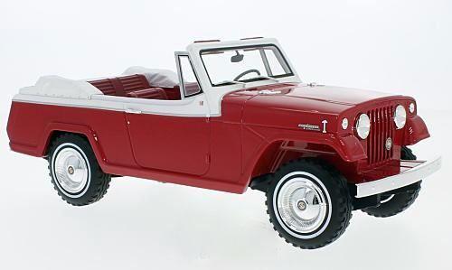 Jeep Jeepster Comhommedo Convertible 1970 rouge blanc 1 18 BOS     nouveau   60% de réduction