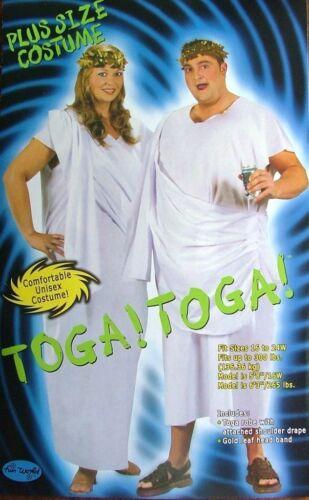 FOR MEN OR WOMEN GREEK ROMAN TOGA XL COSTUME PLUS SIZE FANCY DRESS