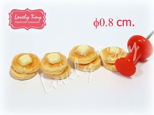 4 pieces of Dollhouse miniature Pancakes set with Butter type D
