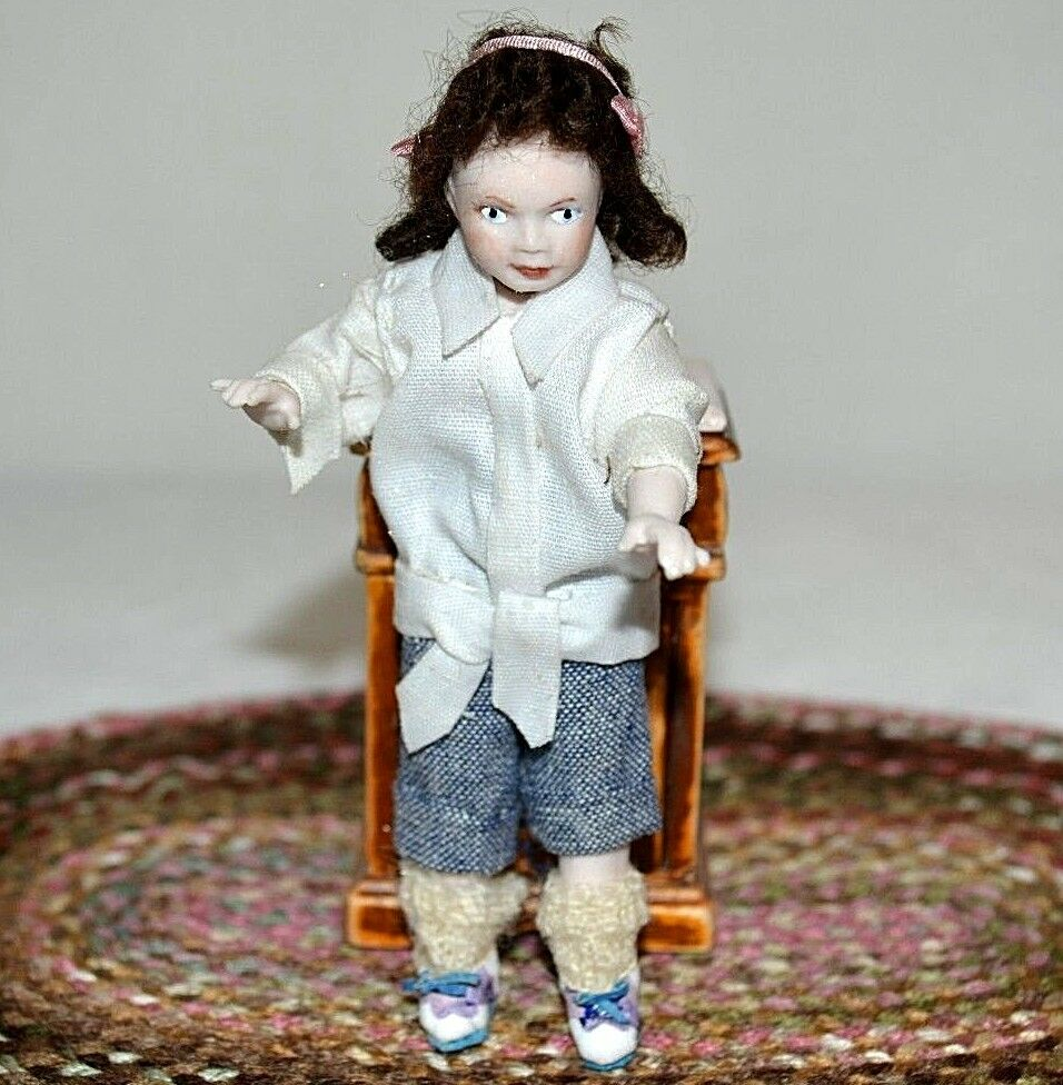 Miniature Porcelain Doll Girl Dollhouse 1 12