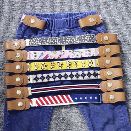 Elastic Buckle Free Waist Belt Stretch Belt Jeans Waistband Kids Boys Girls@a xl