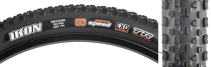 Maxxis Ikon 3C EXO TR Tire Max Ikon 26x2.2  Bk Fold 120 3c exo tr  shop makes buying and selling