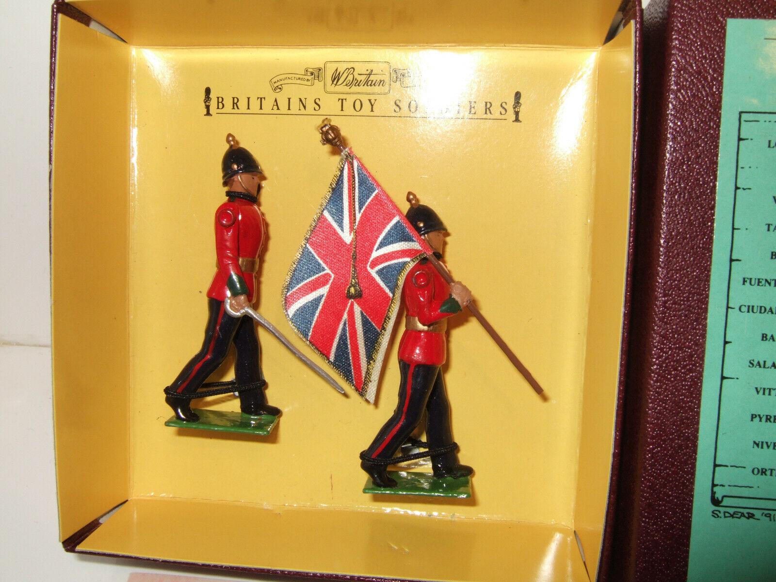 Britains 8818, Sherwood Foresters, Officer Officer Officer & Standard Bearer Box Set  in 54MM 513786