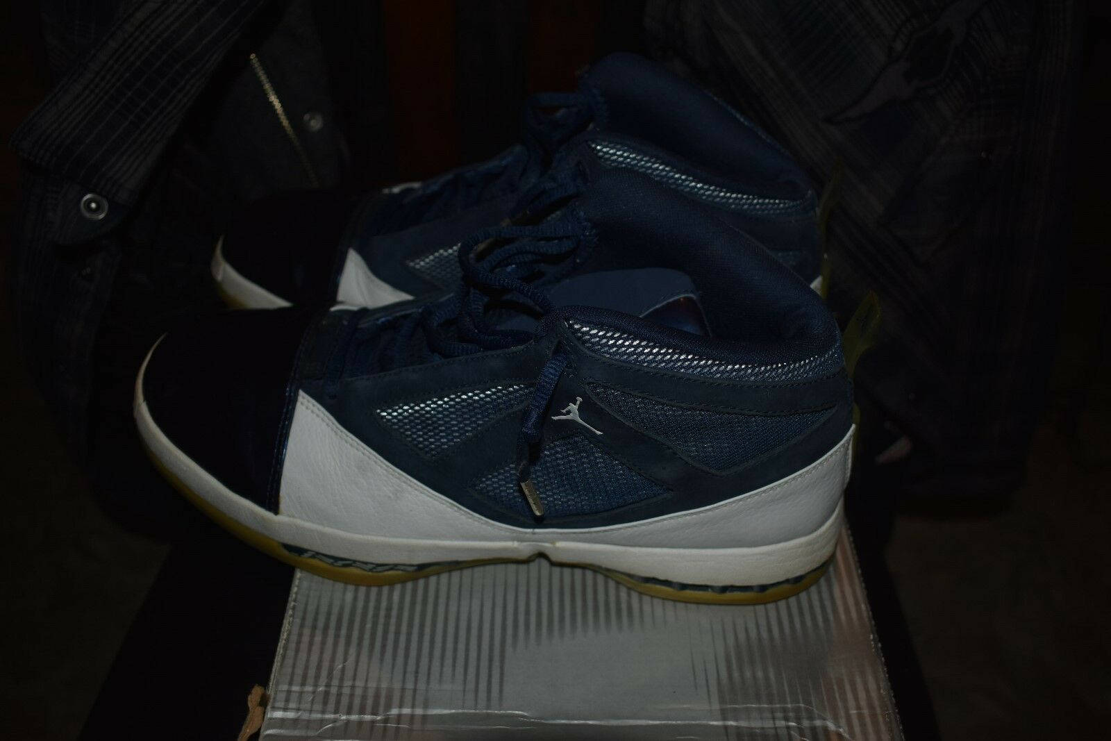 SWEET NIKE AIR JORDAN XVI Price reduction 3/4 HIGH WHITE/MIDNIGHT NAVY 136059-141 SIZE 11 Special limited time