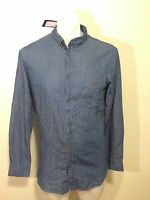 Zanerobe Blue Collared Button Down Shirt Mens Size Small $125 100% Cotton