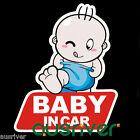 Vinyl Car Decals Baby in Car Stickers Waterproof Reflective Stickers 14cmx11cm