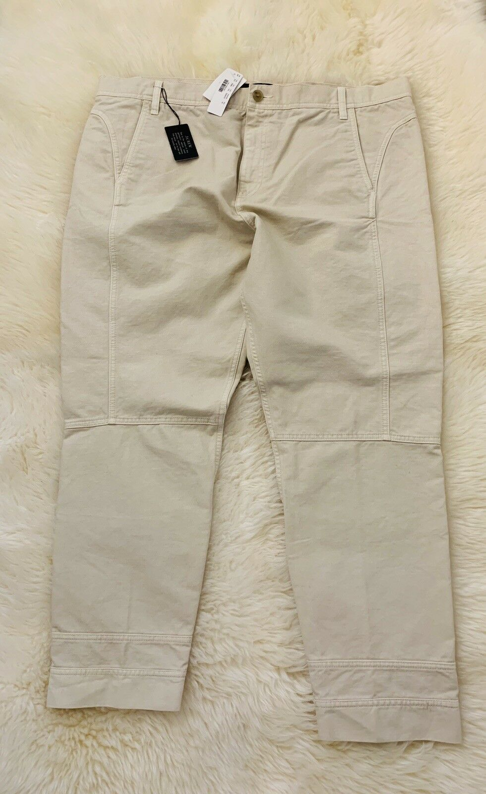 NWT J.Crew Seamed Military Pants Trouser Cotton Ivory Size 16 New