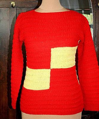 Beliebte Marke Gr 36/38 - True Vintage 70er - Pullover - Pulli - Handarbeit - Einzelstück