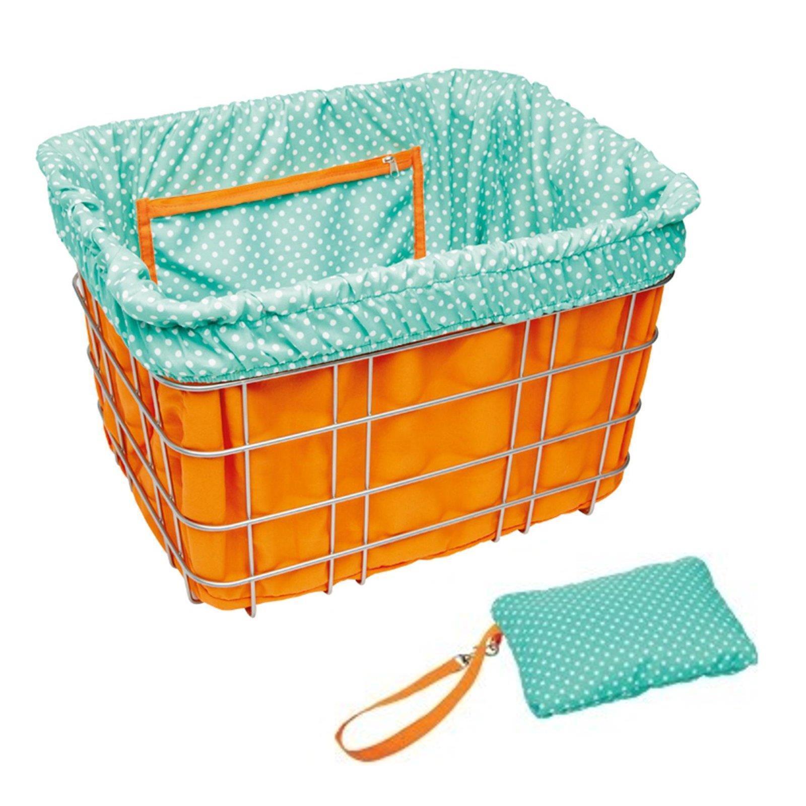 Electra Vélo Panier de dépôt orange turquoise Dots Guidon Guidon Guidon Sac à provisions utilisation 71694c