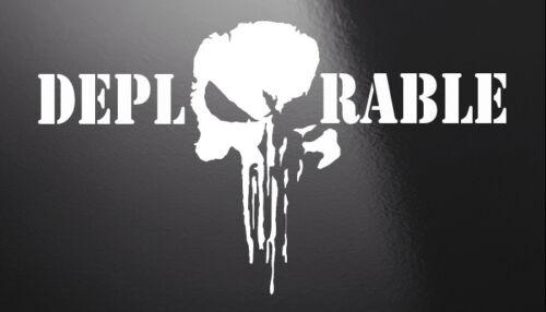 "418DeplorablePunisher 5/"" x 9/""  2 PACK Vinyl Window Decal"