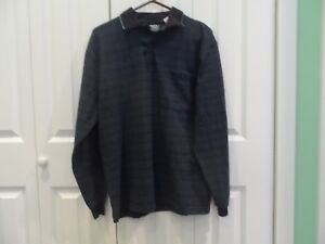 e9d8d0697c243 Men s size Medium Long Sleeve John Blair Light   Dark Blue Plaid ...