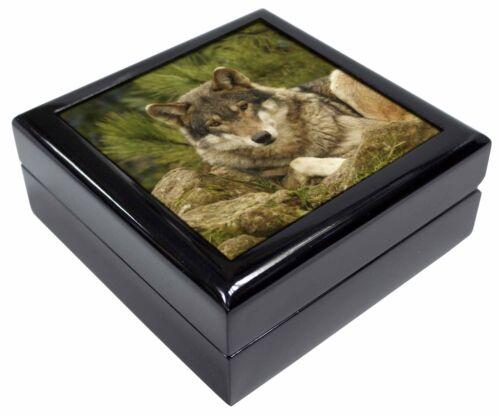A Beautiful Wolf Keepsake//Jewellery Box Christmas Gift AW-10JB
