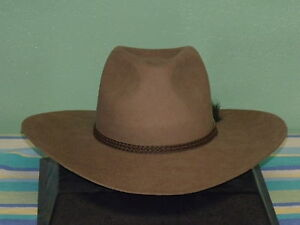 22ce00679 Details about AKUBRA MANSFIELD HIGH COUNTRY IMPERIAL FUR FELT COWBOY  WESTERN HAT