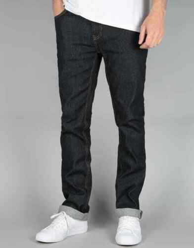Etnies Mens E2 Straight Fit Jeans 30//32 Raw Indigo New With Tags