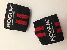 """Rogue Fitness Wrist Wraps Medium 18"""" Black&Red Power/Weight Lifting Crossfit WOD"""