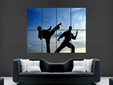 KARATE SILLOUETTES MARTIAL ART GIANT WALL POSTER  PICTURE PRINT LARGE HUGE