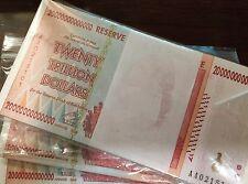 LOT 100 X 20 TRILLION DOLLARS ZIMBABWE P89 AA 2008 Pick 89 UNC BUNDLE USA SELLER
