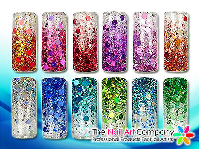5ml Pot Pro Glitter Mix Nail Art Powder Ultra Fine Hexagons