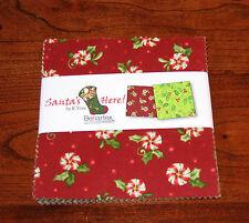 """Benartex - Santa's Here Christmas Holiday - (42) 5""""  Precut Fabric Squares"""