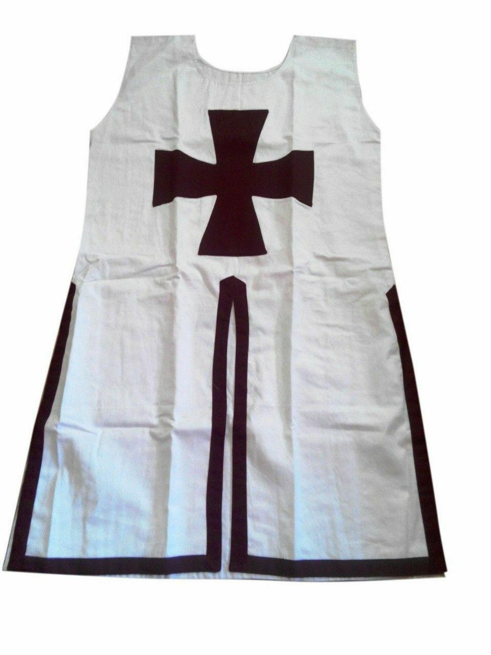 Knights Templar Tunic Tabard Costume Reenactment Medieval Crusader Armou,