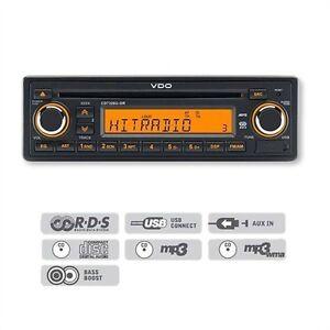VDO-24V-Radio-Tuner-CD-USB-MP3-Truck-LKW-Bus-CD7326U-OR-Dayton-24-V-Volt-24Volt