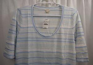 Women-039-s-J-Crew-Striped-T-Shirt-Large-NWT