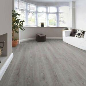 12 99m2 Timeless Oak Grey 12mm Laminate Flooring Kronotex Sample