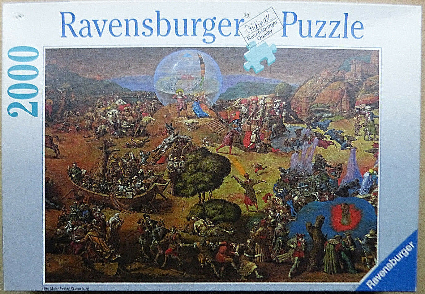 13030. Puzzle Panorama Panorama Panorama Frankenhausen 2000 Teile Ravensburger 93fa5f