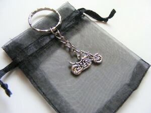 Motorbike-Cycle-Keyring-Travel-Charm-Birthday-Christmas-Present-With-Gift-Bag