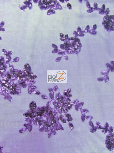 Purple DRESS GOWN PROM SUNSET FLORAL SEQUINS SCALLOPED EDGES LACE FABRIC