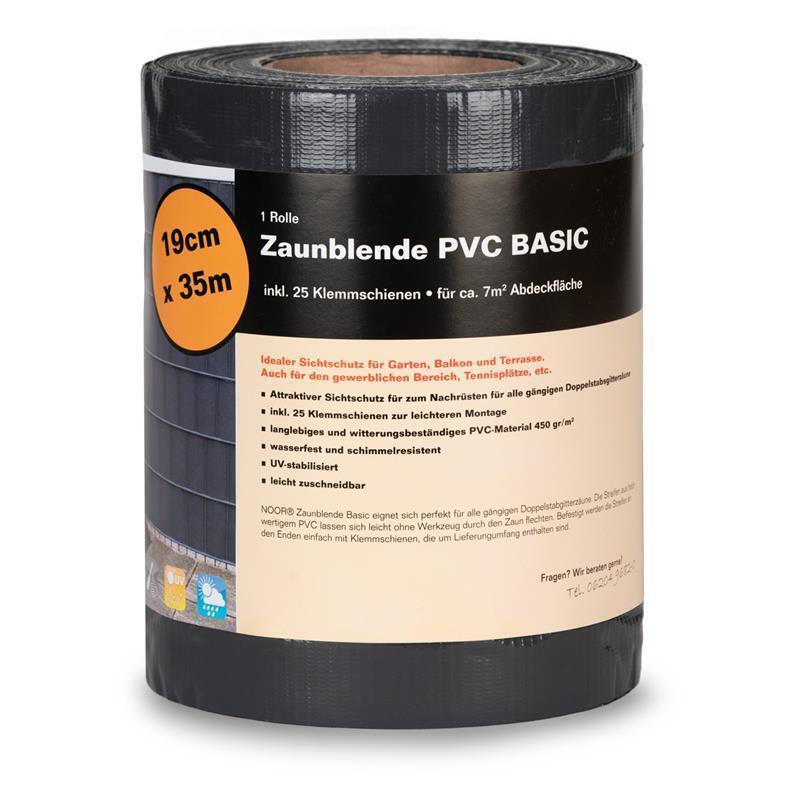 Sichtschutz Zaunblende PVC Noor 0,19x35m anthrazitgrau