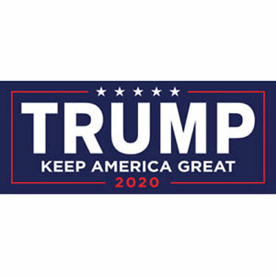 YAOJOE 8 PCS Super Waterproof Trump Car Decal Keep America Great Elect President Donald Trump 2020 Election Patriotic Reflective Bumper Sticker 4 Pattern