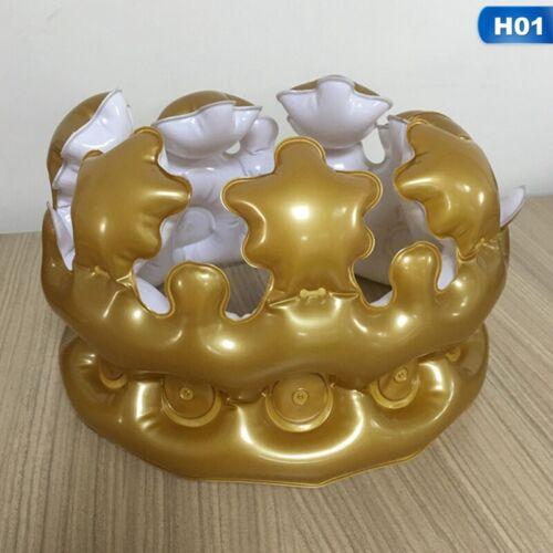 Aufblasbar Krone Aufgeblasen Hut Fest Vorräte Requisiten Geburtstagsparty flYfE