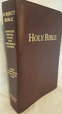 King James Subject Bible-Large Print Complete Topical Study and Reference