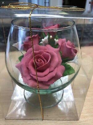 1 X Decorazioni Tavola Nozze Favore Partito Floreale Fatto A Mano Sapone Vaso Le Madri Giorno-