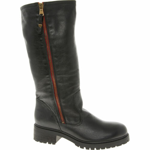 Moschino High Uk5 Boots Love 38 Leather Eur Black Knee Women's dOaqHX