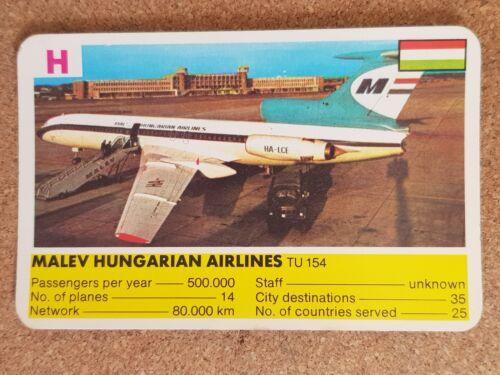 Top Trumps Single Cards World Airlines Passenger Jet Planes Various FB3