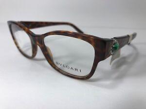 f35ef85d830 New BVLGARI Eyeglass Frame Designer Glasses 4074-B 5268 Tortoise ...