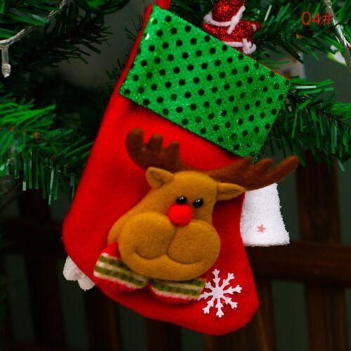 Cute Xmas Tree Hanging Decoration Christmas Santa Socks Ornaments Festival Party