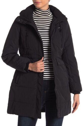 Ny Hooded Frakke Jacket Shearling Faux Lucky Lined Brand Parka Sort S Missy FcSnrFZq