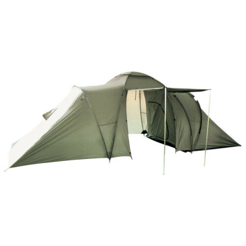 Large 3+3 Men Person Tent Camping Hiking Festival Travel Bushcraft Shelter Olive