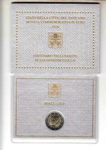 VATICANO-moneta-2-euro-Centenario-della-Nascita-di-San-Giovanni-Paolo-II-2020