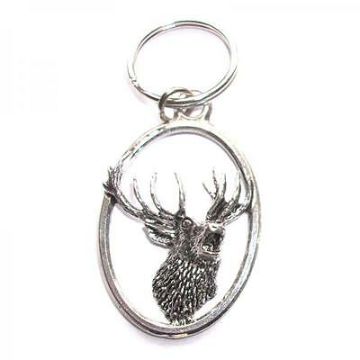 Roaring Stag Handcrafted from Solid English Pewter In the UK Key Ring