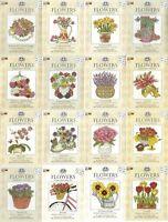 DMC Flowers Mini Cross Stitch Kit - Choice of Design