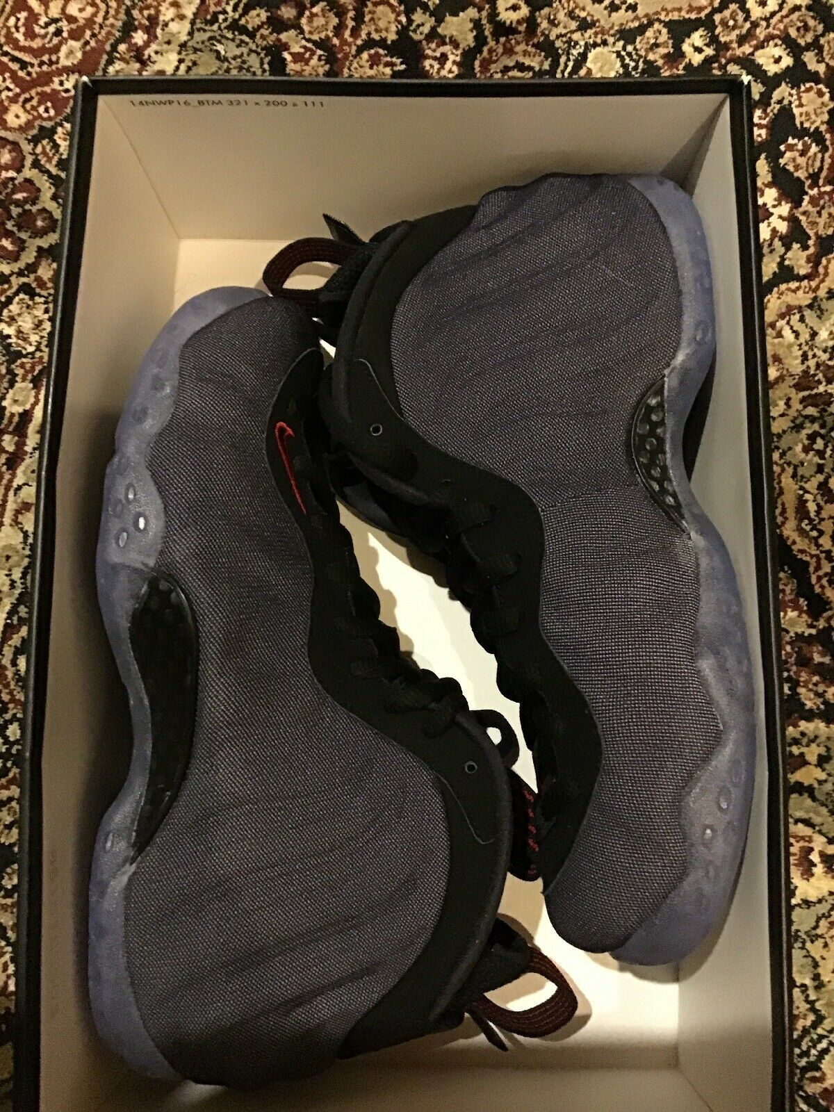 RARE Nike Air Foamposite One Obsidian Denim Penny Hardaway 1 Size 6 314996-404