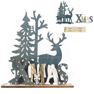 Details About Elk Xmas Tree Wooden Ornaments Christmas Party Diy Crafts Decor Home Garden New