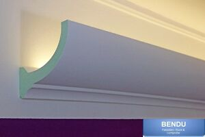 Das Bild Wird Geladen Lichtvouten Profil Indirekte LED Beleuchtung  Decke Stuckleisten Hartschaum